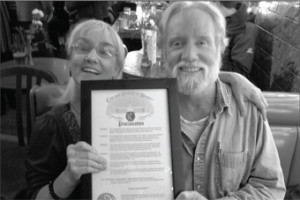 Jami and John Allen Cassady with Mayor's Proclamation at 2011 Bash